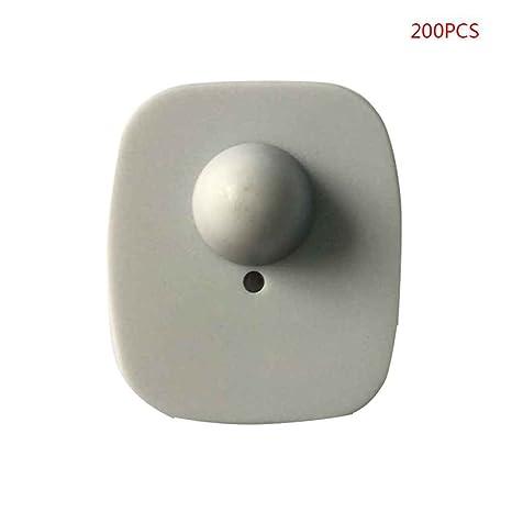 Topker 200pcs 8.2Mhz reutilizable EAS RF Mini Plaza Tag ropa ...