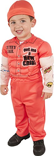 Rubies Child's Muscle Man Prisoner Costume, X-Small, Multicolor