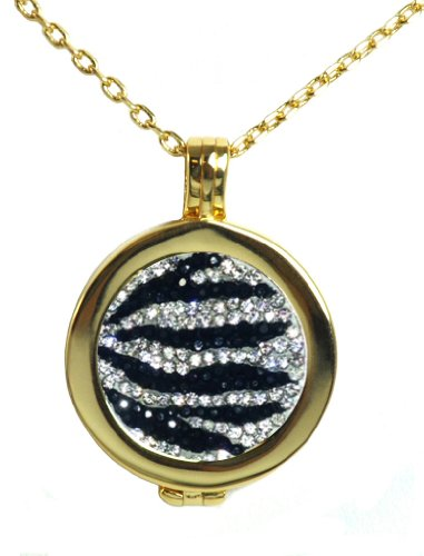 - Live Love Life Gold Necklace with Zebrazz Micro Pave Crystal Charm