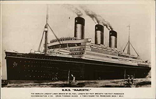 R.M.S. Majestic. Boats Ships Original Vintage Postcard ()