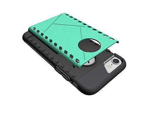 """4.7"""" iPhone 7 Coque, AOFad Case 2 à 1 Protection des lourds vert Néoprène Bouclier Accessoires Série Pour Femme Homme L043"""