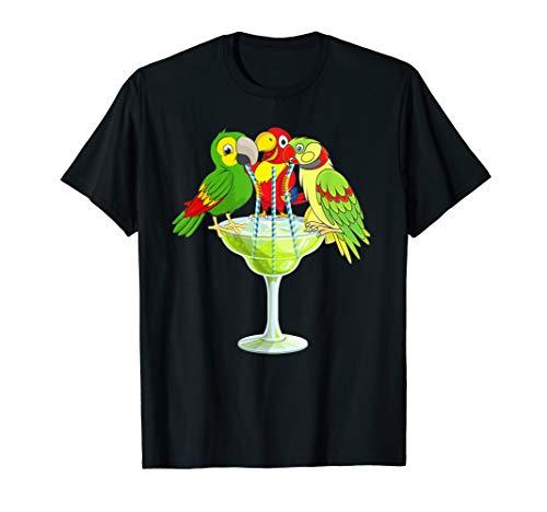 Parrots Drinking Margarita Hawaiin birds T-Shirt