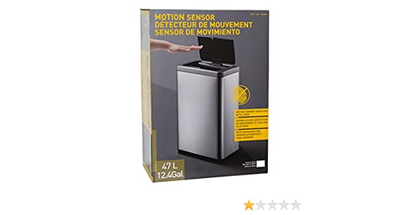 Amazon.com: Motion Sensor Trash Can With Liner - Use 13 Gallon Trash Bags: Kitchen & Dining