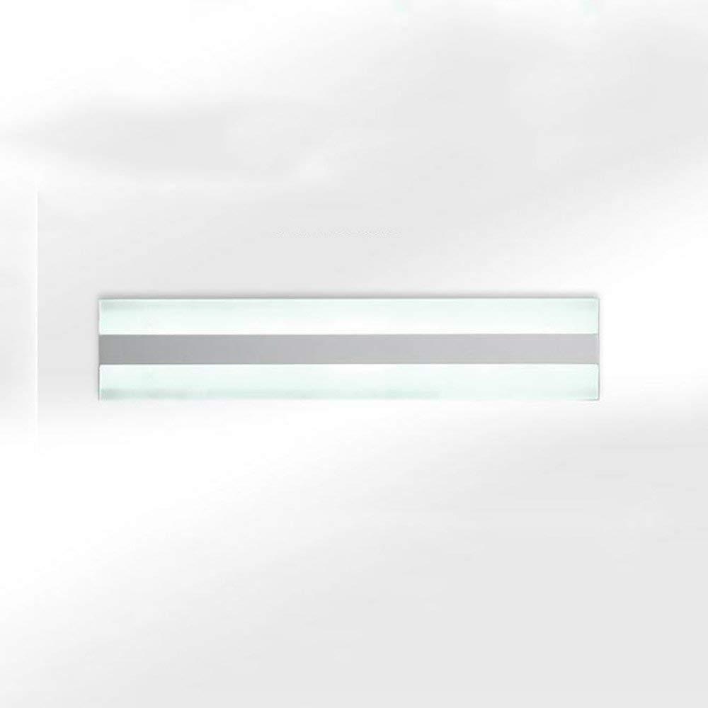 Fenciayao 風呂ミラーランプ - 浴室ledミラーフロントライト現代ペイントアクリルトイレ壁シンプルなバスルーム帯電防止ledミラーキャビネットライト (Color : White Light-52cm-14w)  White Light-52cm-14w B07RY18KF7
