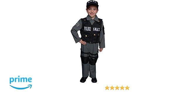 Amazon.com: Dress Up America - Disfraz de policía SWAT ...