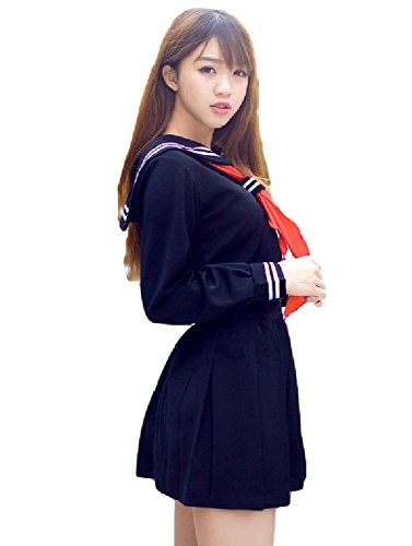 Smile (Japanese Schoolgirl Sailor Uniform Cosplay Costume)