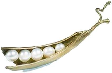 Pea Pod Five Pearl Pin//Brooch by Michael Michaud for Silver Seasons