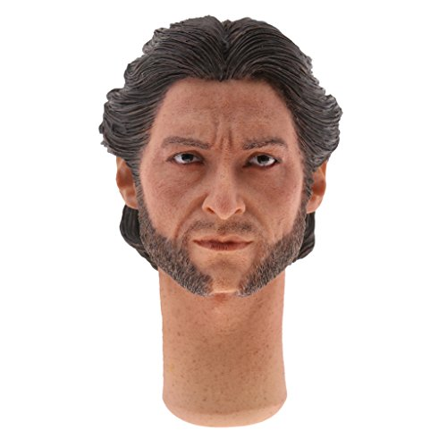 Figure Wolverine 12' (Jili Online 1/6 Male Head Sculpt Accessory for 12 inch Action Figure The Wolverine)