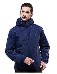 Men's 2in1 Hooded Thicken Warm Waterproof Jacket with Linner Outdoor Sport Coat
