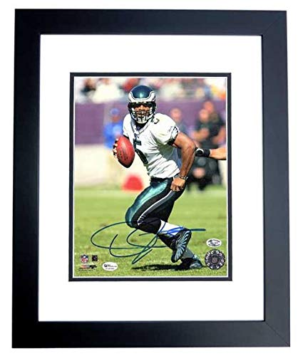 Signed Donovan McNabb Photograph - 8x10 inch BLACK CUSTOM FRAME Guaranteed to pass or JSA - PSA/DNA (Donovan Mcnabb Photograph)