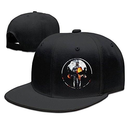 YQUE Unisex-Adult Game Logo Skull Hip Hop Caps Hat Black