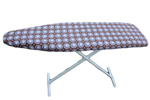 Classic Heavy Use Ironing Board Cover with Pad-Brown Circle