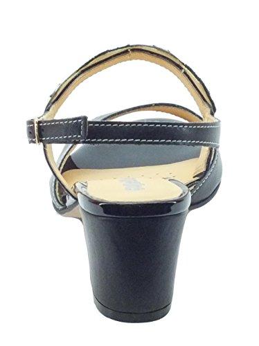 MELLUSO K95341 Nero - Sandalias de vestir de Piel para mujer negro