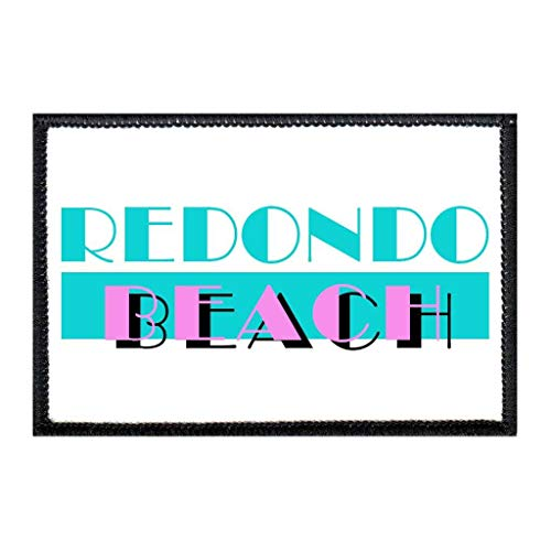 Redondo Beach - Miami Vice Morale Patch   Hook and Loop Attach for Hats, Jeans, Vest, Coat   2x3 in   by Pull Patch ()