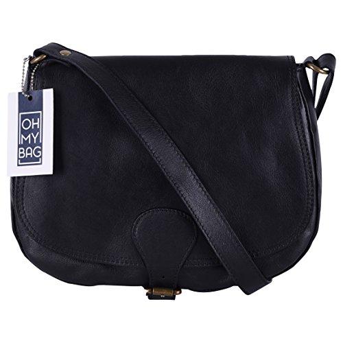 Oh My Vintage Bag, Sac à bandoulière pour femme Noir (noir)