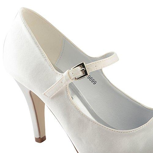 Footwear Sensation - Sandalias de vestir para mujer - F9699-White