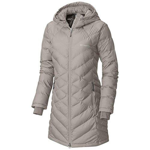 Columbia Women's Heavenly Long Hooded Jacket, Light Cloud, Large
