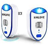 HMLOVE ネズミ駆除 超音波害虫駆除器 、蚊駆除器を使って、蚊に刺されなくなり、ネズミ駆除 超音は波無毒無害静音ですので、赤ちゃんやペットにも安全、健康を守って、LED付きナイトライトとして活躍 日本語説明書【2個セット】