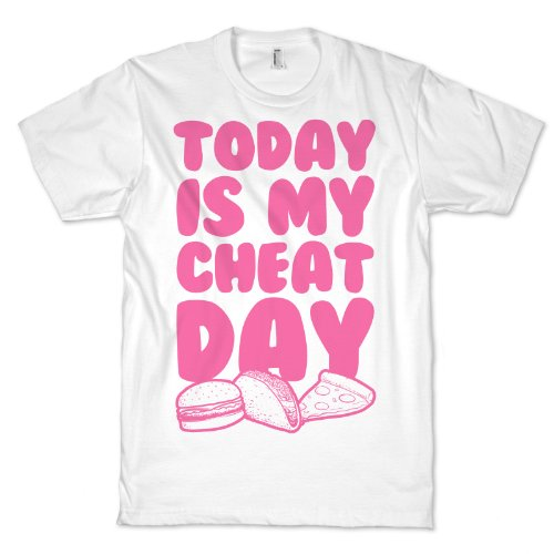 Today is my Cheat Day (Pink) Size Small T-Shirt (White)