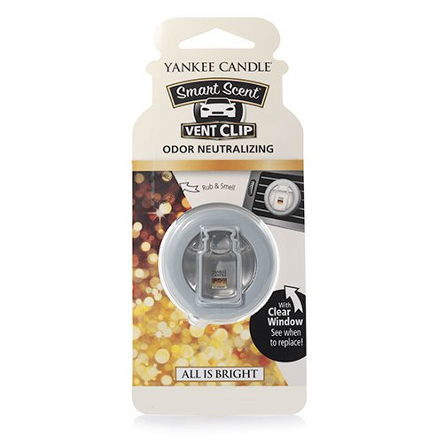 Yankee Candle All Is Bright Smart Scent Car Vent Clip Air Freshener