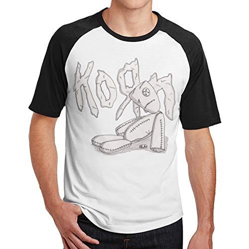 - Badalink Men's Weekend Korn Doll Logo Short Sleeve T-Shirts Black