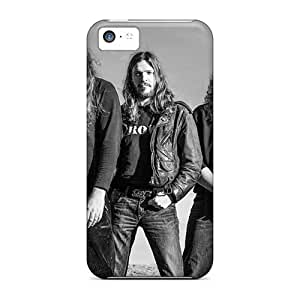 Shockproof Cell-phone Hard Covers For Iphone 5c With Customized HD Catamenia Band Pattern TimeaJoyce