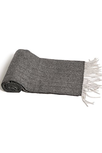 Fishers Finery Men's 100% Pure Cashmere Scarf; Super Soft and Warm (Herringbone) by Fishers Finery