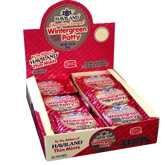 Necco Haviland Chocolate Covered Wintergreen Patties 1.25 ounces - 24 (Chocolate Covered Peppermint Patties)