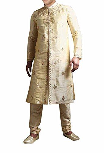 INMONARCH Mens Elegant Look Designer Sherwani SH265 40R Ivory