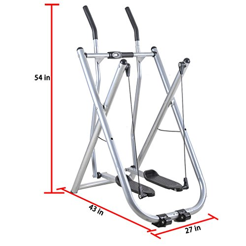 Air Walker Exercise Machine with Pedometer by Cirocco – Folding Fitness Glider Elliptical Trainer Training Equipment | Ideal for Health Exercise Workout Home Gym Office Indoor | Foldable Non Skid