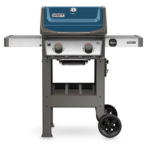 Systems 2 Burner (Weber 44020001 Spirit II E-210 Gas Grill LP Outdoor, Sapphire)