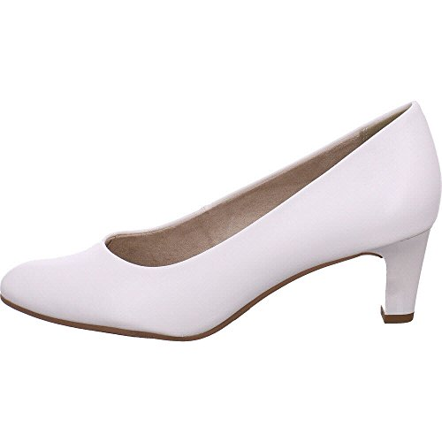 Tamaris 22493, Escarpins Femme Blanc (White Matt 108)
