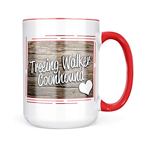 Neonblond Custom Coffee Mug Treeing Walker Coonhound, Dog Breed United States 15oz Personalized Name