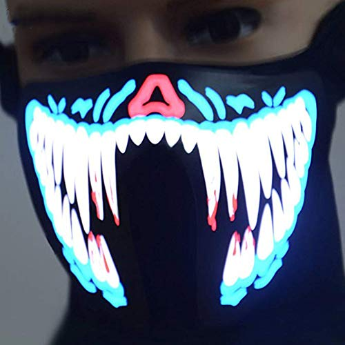 Unigds LED Flashing Outdoor Riding Warmer Protection Mask Halloween Cosplay -