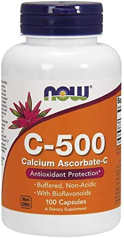 Now Supplements, Vitamin C-500 Calcium Ascorbate, Antioxidant Protection*, 100 Capsules