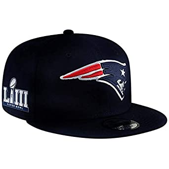7b46defa12817e Image Unavailable. Image not available for. Color: New Era Black New  England Patriots Super Bowl LIII Side Patch Snapback 9Fifty Adjustable Hat
