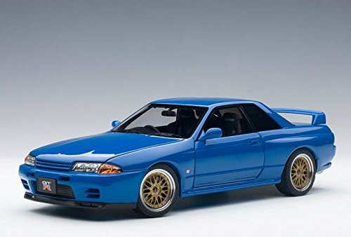 Nissan Skyline GT-R (R32) V-Spec II Tuned Version Blue Limited Edition to 1500pcs 1/18 by Autoart ()