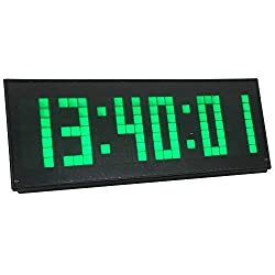 BTBSIGN LED Digital Wall Clock with 12/24 Hours Interval Time Countdown Count Up Stopwatch 3.3inch Green
