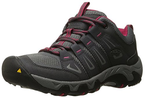 KEEN Women's Oakridge Shoe, Magnet/Rose, 8.5 M US