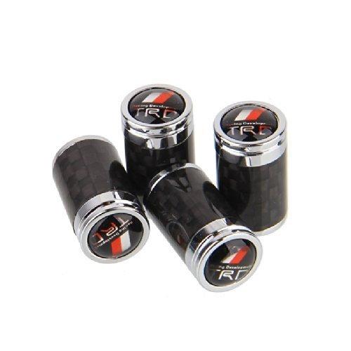 - CzlpV 4pcs Carbon Fiber Auto Car Wheel Tire Air Valve Caps Stem Cover fit for TRD