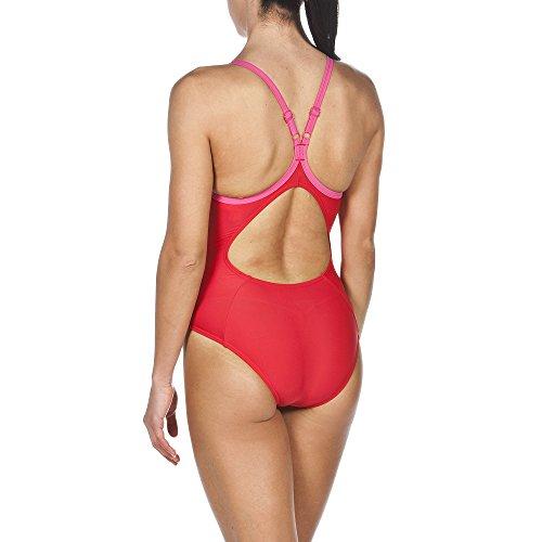 Arena Mujer Sport Variety–Bañador Red/Fresia Rose/Pix Blue