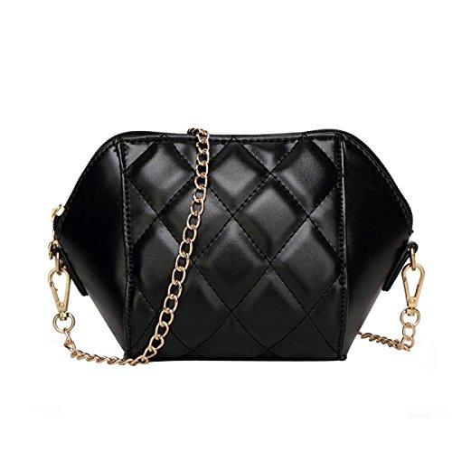 Catena Borsa Moda Shoulder Bag Messenger Bag Women s,Black-OneSize