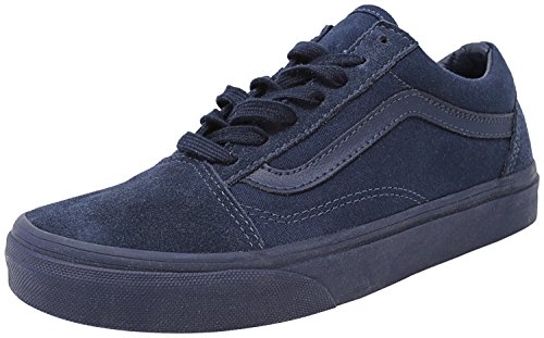 Vans Old Skool Mono Mens Blu Canvas Lace Up Sneakers Shoes Dress Blues