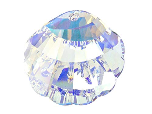 (Swarovski Crystal, 2 Pieces, 6723 Sea Shell Pendant 16mm, Crystal AB, Wholesale)