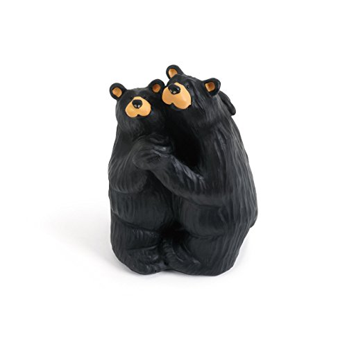 DEMDACO Bearfoot Swing Black Bear 5.5 x 3.5 Hand-cast Resin Figurine Sculpture