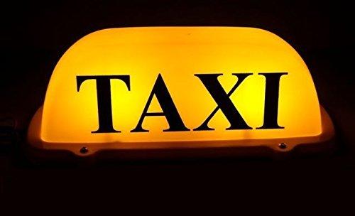 Cartel luminoso para taxi (tamaño universal, incluye soporte ...