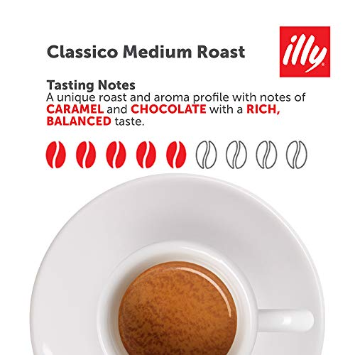 illy Classico Ground Espresso, Medium Roast, 100% Arabica Coffee Blend Can, 8.8 Ounce (Pack of 6)