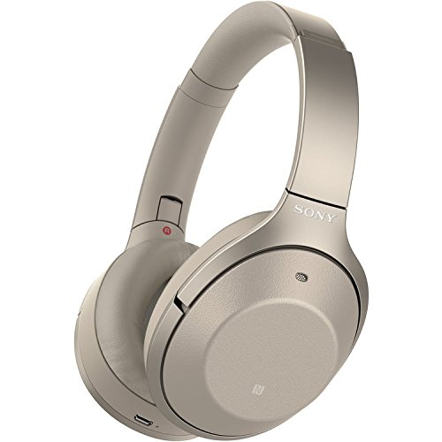 Sony Noise Cancelling Headphones WH1000XM2: Over Ear Wireless Bluetooth Headphones with Case - w/ and Sony SRS-XB2 Portable Wireless Speaker with Bluetooth and NFC (Gold) by Sony (Image #1)
