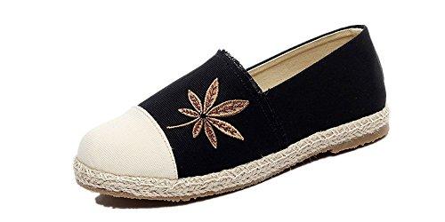 Tianrui Negro Mujer Zapatillas para Lona Crown de w8Hwv