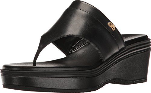 Cole Haan Women's Cecily Grand Thong Black Leather/Black 9 B US B (M)
